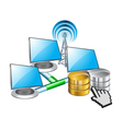 computer networking and data vector image vector image