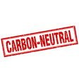 carbon-neutral red square grunge stamp on white vector image