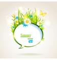 Abstract natural speech bubble vector image