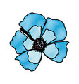 drawing blue flower decoration floral ornament vector image