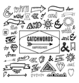 Set of catchwords ampersands and other vector image
