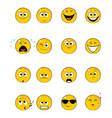 sixteen yellow faces vector image