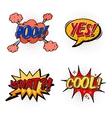 Set of comic bubble speech onomatopoeia vector image vector image