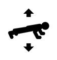 push ups icon vector image vector image