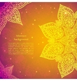 Golden ethnic indian background vector image vector image