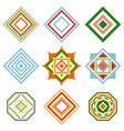 set of mandalas ethnic oriental geometric vector image