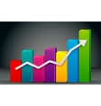 Colorful Bar Graph vector image vector image