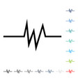 pulse signal icon vector image