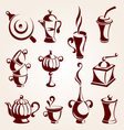 coffee and tea elements set vector image