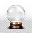 glass empty snow globe vector image
