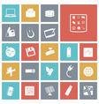 icons tile technology device vector image