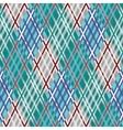 Seamless tartan pattern Diagonal Blue palette vector image