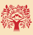 Love tree red color vector image