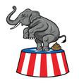 american republican party gop elephant vector image