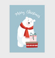 cute christmas card invitation with hand drawn vector image