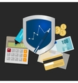financial investment protection growth waranty vector image