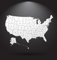 High detailed usa map with federal states united vector image
