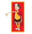 Julius Caesar thumbs down vector image