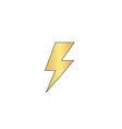 lighting bolt computer symbol vector image