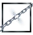 Metal broken chain vector image