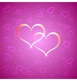 pink Saint Valentines background vector image