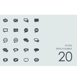 Set of speech bubble icons vector image