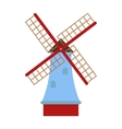 Traditional old windmill building color painted vector image