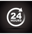 white 24 hours vector image