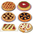 Set of pies vector image