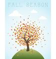Fall season vintage global composition EPS10 file vector image vector image