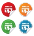 Widescreen Smart TV sign icon Television set vector image vector image