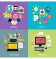 Business types concept flat vector image vector image