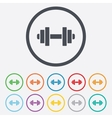 Dumbbell sign icon Fitness symbol vector image