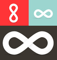 Infinity Symbols Set on Retro Background vector image