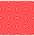Design seamless red heart spiral background vector image