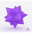 3d structure background vector image
