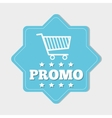 Shopping promo colorful label tag vector image