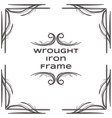 Wrought Iron Frame Two vector image
