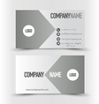 Business card set template Grey and silver color vector image