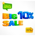 Big sale inscription 10 vector image