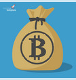 blockchain bitcoin savings vector image