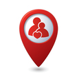Couple icon with heart map pointer vector image