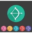 Cupid love bow flat icon web sign symbol logo vector image
