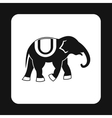 Elephant icon simple style vector image