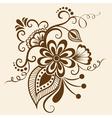 Ethnic Mehndi Floral Pattern vector image