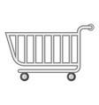 supermarket shopping cart icon cartoon style vector image