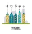 Urban life design vector image