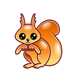 Cute cartoon squirrel isolated vector image