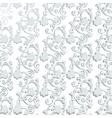 Vintage floral swirl ornament pattern vector image