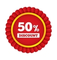 Special offer tag Discount sticker Icon for sale vector image